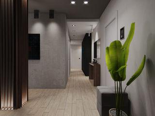 Wide Design Group インダストリアルな 玄関&廊下&階段