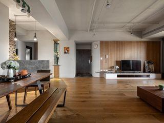 權相室內裝修設計有限公司 인더스트리얼 거실