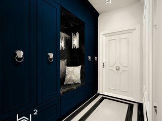 Wkwadrat Architekt Wnętrz Toruń Classic style corridor, hallway and stairs MDF Blue