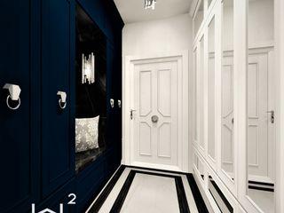 Wkwadrat Architekt Wnętrz Toruń Classic style corridor, hallway and stairs Plastic Blue