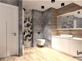 Wkwadrat Architekt Wnętrz Toruń Modern bathroom Concrete Wood effect