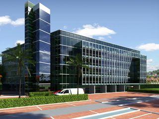 3D Rendering Services Atlanta Georgia JMSD Consultant - 3D Architectural Visualization Studio Garden Shed Glass Green