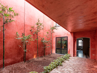 Taller Estilo Arquitectura Couloir, entrée, escaliers modernes Béton Rouge