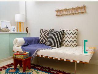 Decoração de Home Office Izabella Biancardine Interiores QuartoSofás