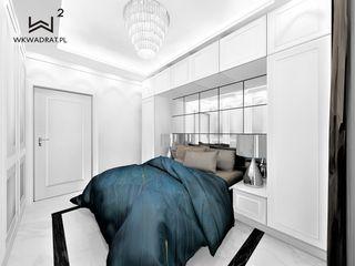 Wkwadrat Architekt Wnętrz Toruń Small bedroom Marble White