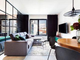 MG Interior Studio Michał Głuszak Salones de estilo minimalista Gris