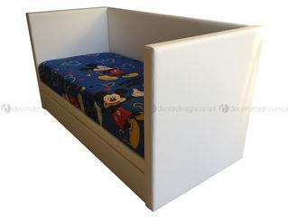 Decordesign Interiores Дитяча кімнатаЛіжка та дитячі ліжечка Текстильна Білий