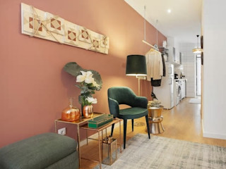 Rafaela Fraga Brás Design de Interiores & Homestyling Phòng khách phong cách chiết trung
