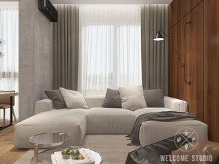 Мастерская дизайна Welcome Studio Soggiorno minimalista Grigio