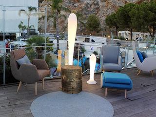 Terraza Lounge VIP en Starlite Marbella BARASONA Diseño y Comunicacion Balcones y terrazas de estilo moderno