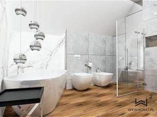 Wkwadrat Architekt Wnętrz Toruń Modern bathroom Marble Grey