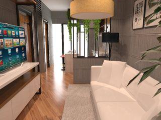 SARAÈ Interior Design Living roomShelves Plywood Grey