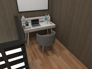 SARAÈ Interior Design Study/office Plywood Grey
