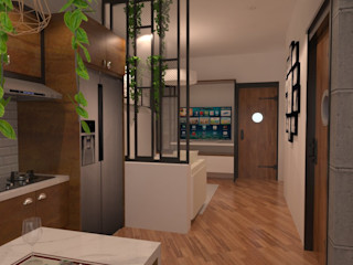 SARAÈ Interior Design Modern kitchen Plywood Brown