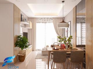 Designer Công ty Cổ Phần Nội Thất Mạnh Hệ Phòng khách OSB Brown
