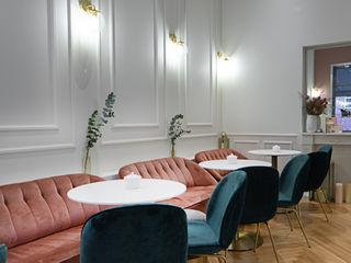 Classy Cupcake Store Ivy's Design - Interior Designer aus Berlin Klassische Gastronomie Holzwerkstoff Pink