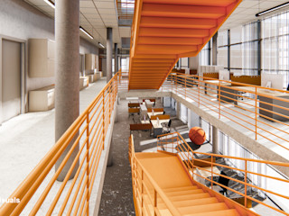 GOOD visuals Modern Corridor, Hallway and Staircase