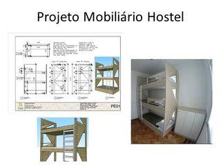 Hostel em casa tombada - RJ Izabella Biancardine Interiores Hotéis modernos