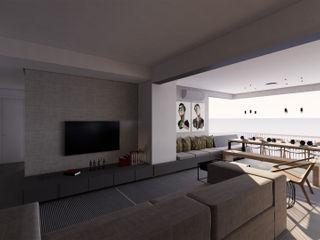 Saulo Magno Arquiteto Minimalist living room Grey