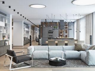 K13 Privat Wohnung nadine buslaeva interior design Minimalistische Wohnzimmer