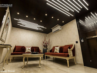 Nightingale Creative Design Studio Living roomLighting Copper/Bronze/Brass Amber/Gold