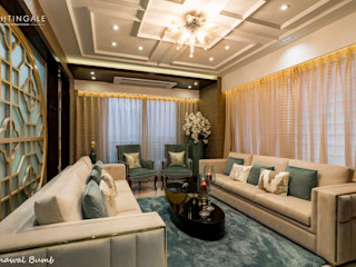 Nightingale Creative Design Studio Modern living room Ceramic Beige