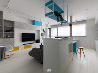邑田空間設計 Living room White