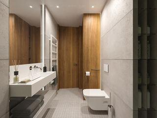 MIRAI STUDIO Baños de estilo moderno Hormigón Gris