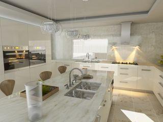 OLLIN ARQUITECTURA CozinhaArmários e estantes Granito Branco