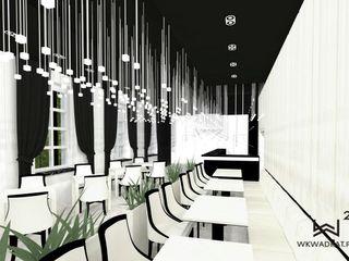 Wkwadrat Architekt Wnętrz Toruń Minimalist bars & clubs Stone White