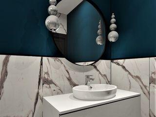 Wkwadrat Architekt Wnętrz Toruń Modern bathroom Stone Turquoise