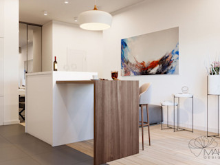 Марина Янченкова Minimalist kitchen Wood White