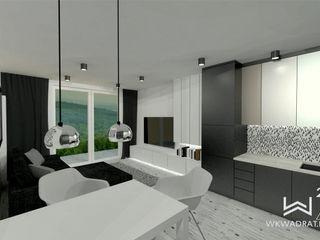 Wkwadrat Architekt Wnętrz Toruń Modern living room MDF White