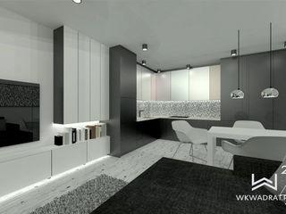 Wkwadrat Architekt Wnętrz Toruń Kitchen units MDF Black