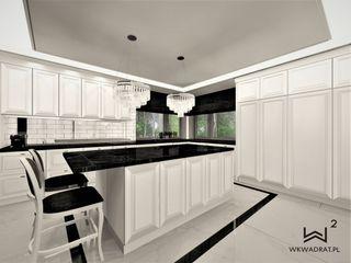 Wkwadrat Architekt Wnętrz Toruń Classic style kitchen Marble White