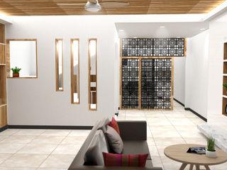Yunhee Choe Azjatycki salon Drewno Biały