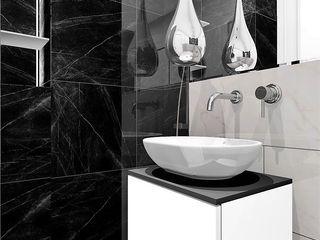 Wkwadrat Architekt Wnętrz Toruń Modern bathroom Marble Black