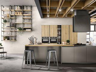 Cucina moderna L&M design di Marelli Cinzia Cucina attrezzata Legno composito Effetto legno