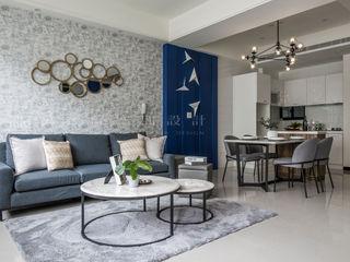 SING萬寶隆空間設計 Salones de estilo moderno