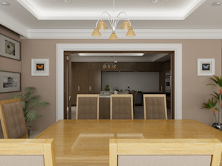 OLLIN ARQUITECTURA Salas de jantar modernas