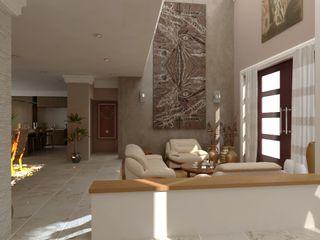 OLLIN ARQUITECTURA Salas de estar modernas