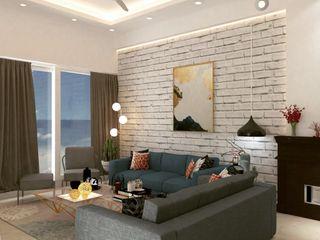 Maayish Architects Salon original Briques Blanc