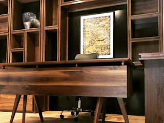 Manolo Campos, ebanistería contemporánea Espaços de trabalho clássicos Derivados de madeira Acabamento em madeira