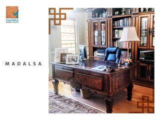 Madalsa Soni Kolonialne domowe biuro i gabinet