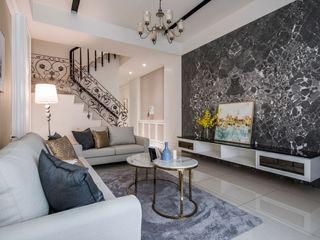 SING萬寶隆空間設計 Salones de estilo clásico