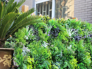 Outdoor artificial vertical garden fence privacy Sunwing Industries Ltd Garden Fencing & walls Plastic Green