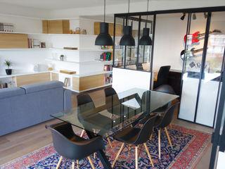 Création d'un bureau à domicile dans un appartement Créateurs d'Interieur Salon scandinave