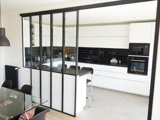 Création d'un bureau à domicile dans un appartement Créateurs d'Interieur Cuisine industrielle