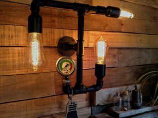 Lamparas Vintage Vieja Eddie Paredes y pisosDecoración de paredes Hierro/Acero Negro