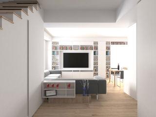 DUOLAB Progettazione e sviluppo モダンスタイルの 玄関&廊下&階段 白色